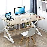 DLPY Madera Mesa De Estudio,Fácil De Montar Mesa para PC Mesa De Trabajo para El Home Office,Moderno Estable Computadora Escritorio De Oficina