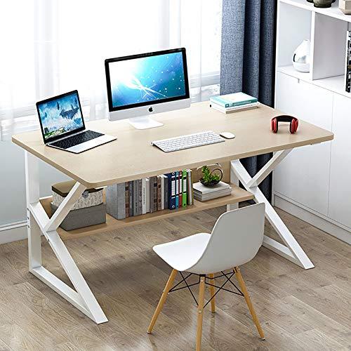 DLPY Madera Mesa De Estudio,Fácil De Montar Mesa para PC Me