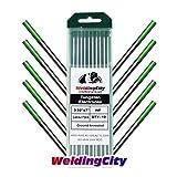 WeldingCity 10-pk Premium TIG Welding Tungsten Electrode Rod Pure (Green, EWP) 3/32' x 7' | 10-pcs