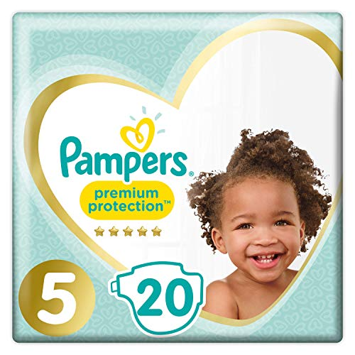 Pampers Premium Protection, Carry Pack, Soft Comfort, Approved by British Skin Foundation, Größe 5, 20 Windeln, 11-16 kg