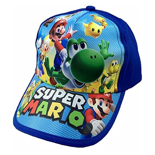 Sombrero de Super Mario Mario Brothers Gorra de béisbol para niños Cubierta de Mario Sombrero para el sol Sombrero de lengua de pato de bebé Mario Sombrero de verano Malla