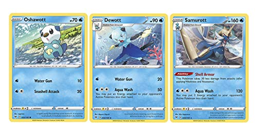 Pokemon Evolution Set - Samurott 35/185 - Dewott & Oshawott - Vivid Voltage - Rare 3 Card Lot
