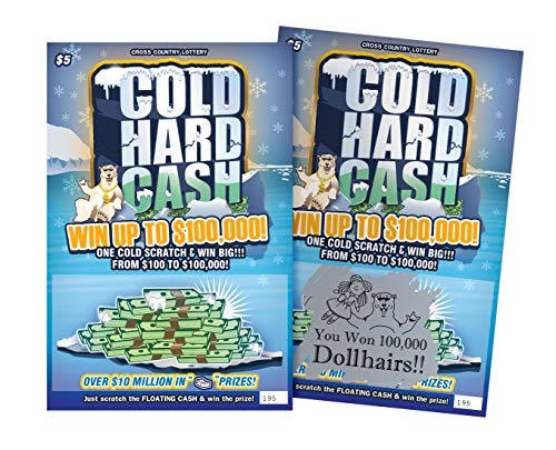 6 Fake Prank Lottery Tickets -Winning Lottery Ticket of 100,000 Doll Hairs -These Joke Gag Card...