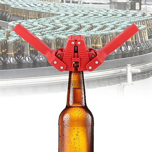 Tapadora de botellas de cerveza de mano fácil de tapar, tapadora de cerveza casera, rojo para hacer cerveza casera