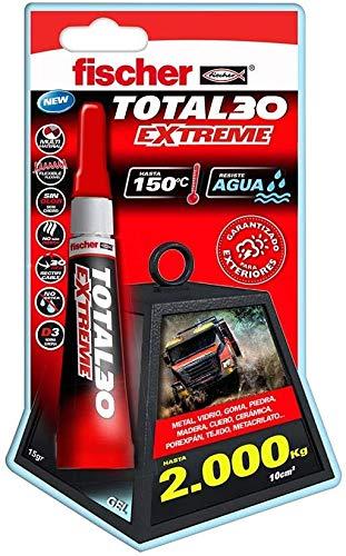fischer 1 Adhesivo Total 30 Extreme (Envase 5, 541727, Trasparente, 15 gr