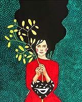ダイヤモンド絵画5DDIYダイヤモンド絵画抽象少女カラフルなダイヤモンドモザイク漫画刺繡クロスステッチキットアート家の装飾40x50cm