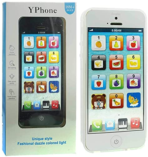 YOYOSTORE Phone Kids Learning Toy Play Cell Phone Black with USB Recharable