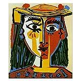 LaJiTong Cuadro sobre Lienzo Pablo Picasso cubismo Arte de la Pared decoración Carteles e Impresiones Arte de la Pared Sala de Estar decoración del hogar 60x90cm