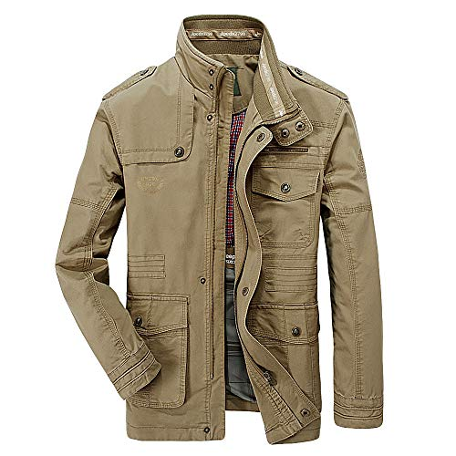 Strungten Herren Jacke,Herren Winter Warme Mode Einfarbig Mantel Casual Pilotenjacke Lose Sweatshirt Reißverschluss Knopf Funktionsjacke...
