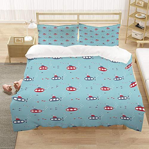 YMYGYR Der am besten geeignete Bettbezug für Kinderzimmer, warmes und sonniges, einfaches Design, der Beste Bettbezug und das Beste Kissenbezuggeschenk für Kinder-C_200 x 200 cm (3 Stück)