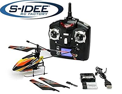 Remote control helicopter, 4.5 channel, 2.4GHz, with LCD display and gyroscope technology, s-idee 01140 V911, for indoors and outdoors, with built-in gyro and 2.4GHz controller, ready to fly! by Fa. s-idee