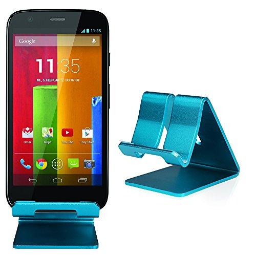 Slabo Handyhalterung für Motorola Moto G Motorola Moto G 4G LTE (2.Generation) Motorola Moto G LTE (2.Generation) X1032 Motorola Moto G Titan Handy Smartphone Halterung Aluminium - BLAU