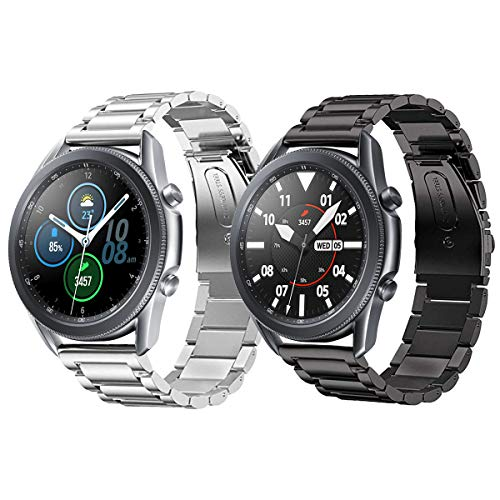 Pulseira extra para Samsung Gear S3/ Galaxy Watch 46mm (Prata+Preta 3 elos)