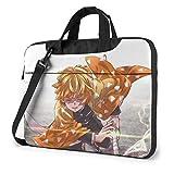 Demon Slayer Agatsuma Zenitsu - Bolsa para ordenador portátil, maletín de hombro, bolsas de mensajero, repelente al agua