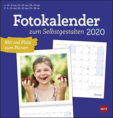Fotobroschurkalender zum Selbstgestalten. Bastelkalender 2020. Monatskalendarium. geheftet. Format 21 x 22 cm