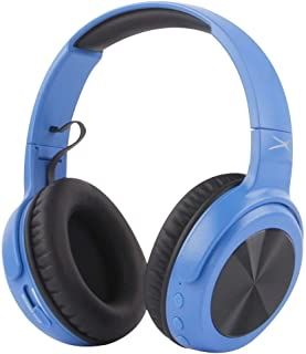 Altec Lansing MZX701- Blue Rumble Bass Boosted Over Ear Bluetooth Headphones with Omnidirectional Vibration, 10 Hour Battery Life and Voice Assistant Integration, Dynamic Bass, Blue