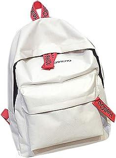 Wultia - Bags for Women Couple Schoolbag Travel Hiking Bag Solid Backpack Collection Luminous Bag Bolsa Feminina White