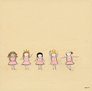 Oopsy Daisy Fine Art for Kids Tiny Dancers Stretched Canvas Art by Creative Thursday by Marisa, 18 by 18-Inch