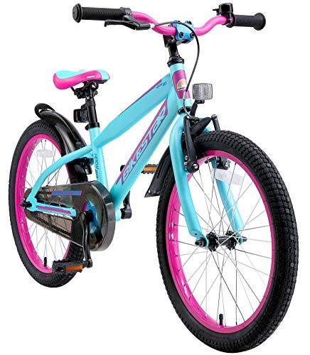 BIKESTAR Bicicletta Bambini 6 Anni da 20 Pollici Bici per Bambino et Bambina Mountainbike con Freno a retropedale et Freno a Mano Lilla & Turchese