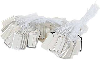 200X Etiqueta Rectángulo de Cartón Precio 26*13mm Blanco