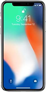 Apple iPhone X 64GB Unlocked GSM Phone - Silver (Renewed)