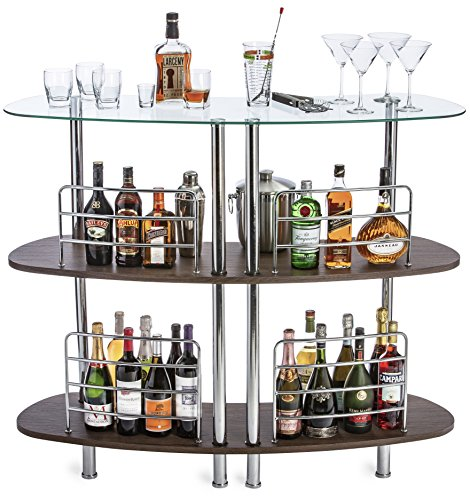 Mango Steam Contemporary Modern Home Entertainment Liquor Bar Catalina Table Wood