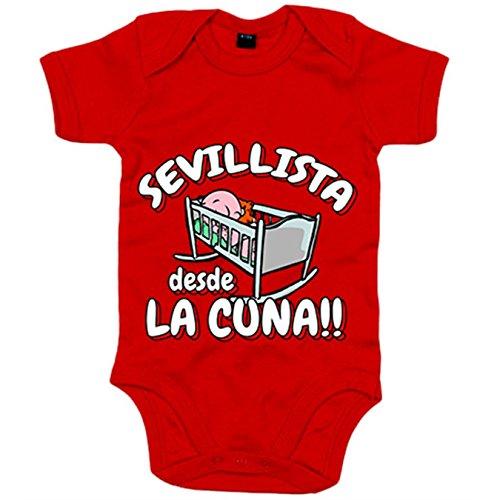 Body bebé Sevillista desde la cuna Sevilla fútbol - Rojo, 6-12 meses