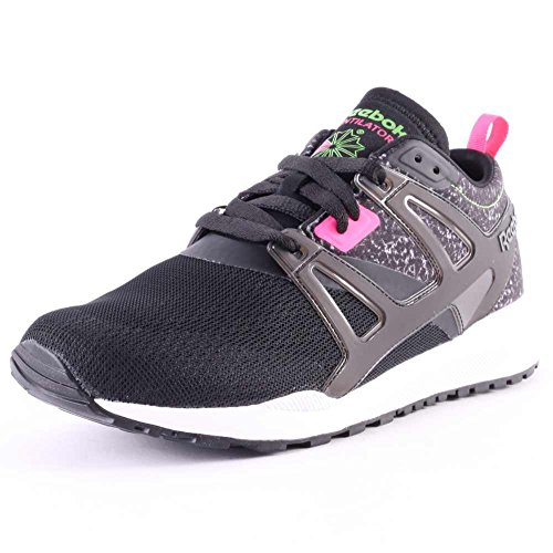 Reebok Ventilator Adapt Graphic Mens Leather & Mesh Trainers Black - 42 EU