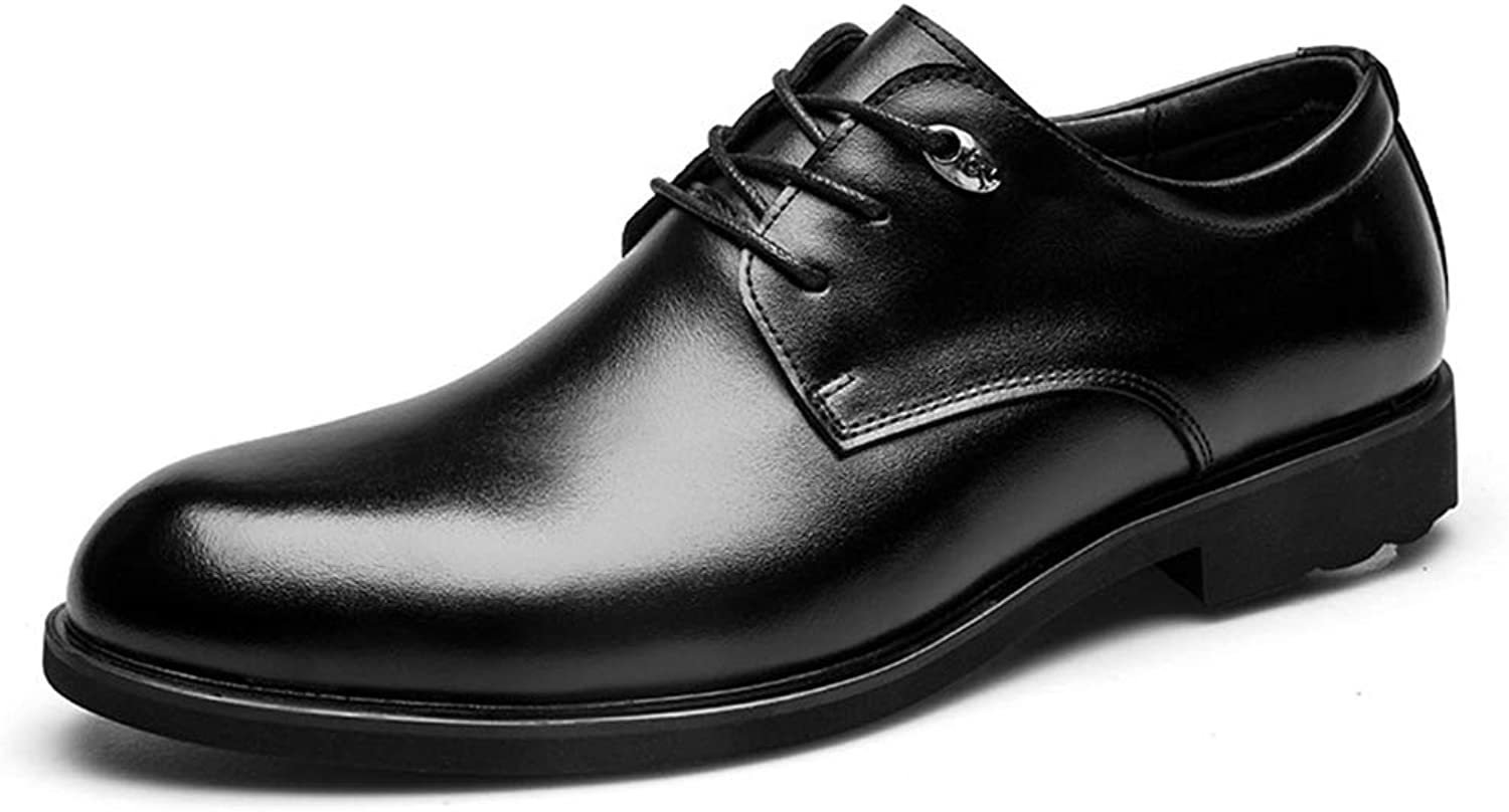 Men Dress shoes Leather Office Casual Classic Oxford Work Wedding Business shoes