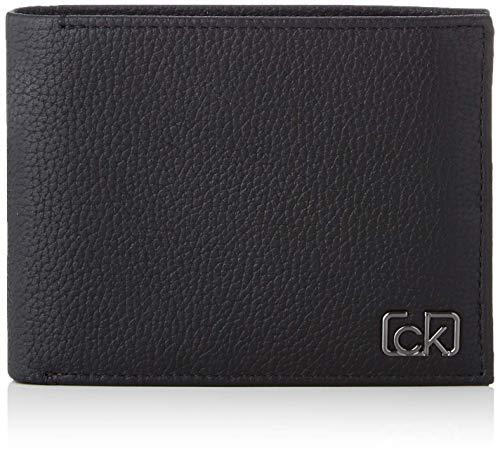 Calvin Klein Ck Cast Pebble 10cc W/Coin - Portafogli Uomo, Nero (Black), 0.1x0.1x0.1 cm (W x H L)