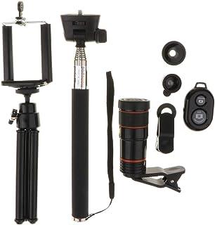 Generic Lente Da Câmera Do Telefone 8x 12x Telefoto Universal Clipe No Kit de Lente - Preto 8X