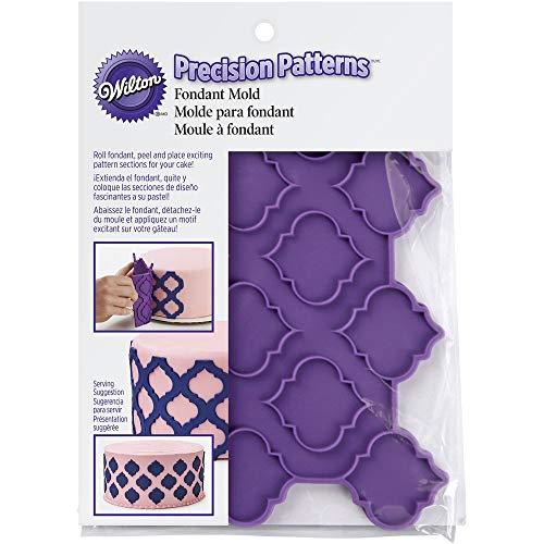 Wilton moules à fondant en silicone, motif treillis, multicolore