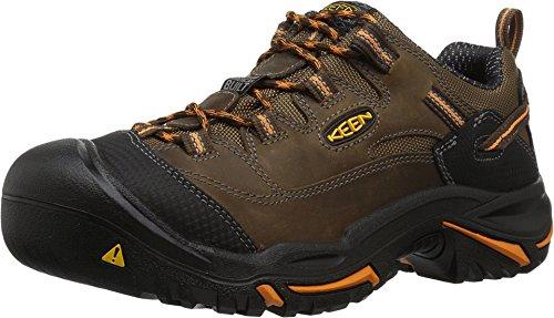Keen Utility Men's Braddock Low Soft-Toe Work Boot, Cascade/Orange Ochre, 11 D US