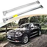 SnailAuto Fit for Jeep Grand Cherokee 2011-2019 2020 Silver Cross Bars Stainless Steel Luggage Racks