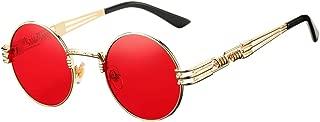 Retro Round Steampunk Sunglasses John Lennon Hippie Glasses