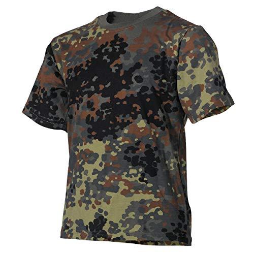MFH 17011V Kinder Army Tarn T-Shirt (Flecktarn/M (134/140))