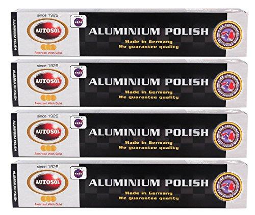 Autosol 4X Aluminium Polish Aluminiumpolitur Politur Alu Reiniger Paste 75 ml