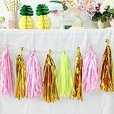 SUNBEAUTY Sommer Party Dekoration Kit Flamingo Ananas Hawaii Tropische Deko - 7