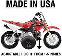 BYP_MFG_INC Adjustable Height Honda CRF50 / XR50 / Z50R Kids Youth Training Wheels ONLY