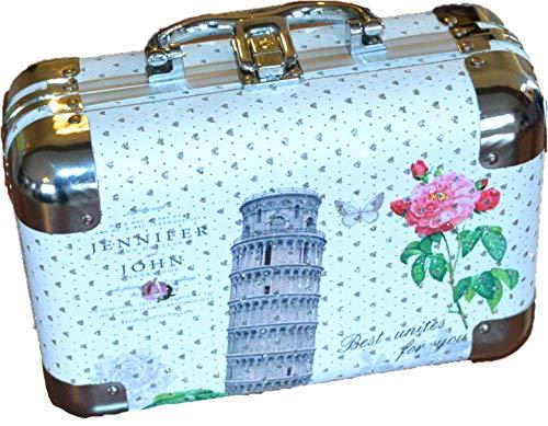 Cosmeticakoffer make-up tas toilettas voor dames meisjes vrouwen make-up goed voor op reis, Pisa (wit) - KUF-01