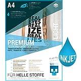 SKULLPAPER Transferfolie für HELLE Stoffe - für Tintenstrahldrucker - inkl. 200+ Motive (A4-10 Blatt)