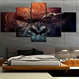 ERQINGWL 5 Stück Leinwand Gemälde Orang-Utan King Kong