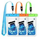 Universal Waterproof Case Cellphone Pouch,3 Pack Waterproof Pouch Underwater Dry Bag with Lanyard Compatible iPhone 12 Pro/11 Pro Max/Xs Max/XS/XR/X/8, Galaxy S20/S10/S9/Note 10, Google HTC up to 6.8'