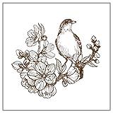 Chaoxiner Ast Vogel DIY Clear Stempel für Kartenherstellung, Silikon-Stempel für Bastelarbeiten, Scrapbooking, Prägung, Fotoalben, Papier, Notizbuch, Karten, Bastelbedarf