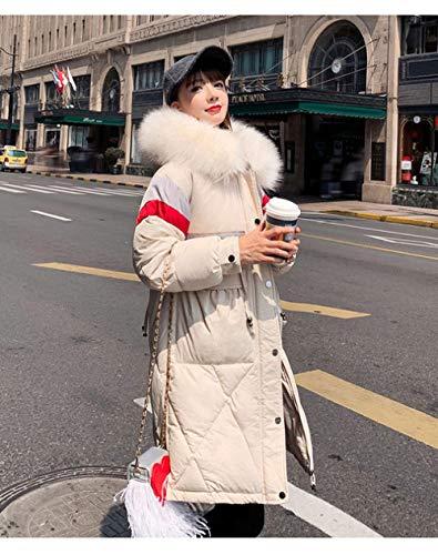 WFSDKN Down jas 2019 nieuwe winter jas lange sectie losse wilde ins jas bont kraag capuchon jas