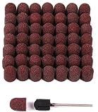 Porta Kosmetik - Capuchones de lija (50 unidades, 10 mm, incluye soporte de goma)