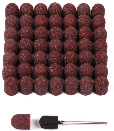 50 Schleifkappen 10mm + 1 Gummiträger