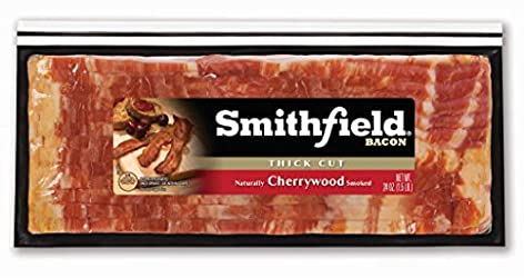 Smithfield, Thick Cut Ready to Cook Naturally Cherrywood Smoked Bacon, 24 oz