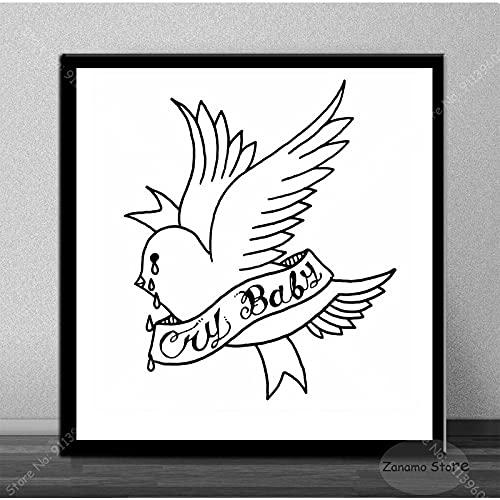 qingqingzijin Lil Peep Sober Everybody's Music Album Star Poster Lienzo Pintura Arte Imagen decoración del hogar Sala de Estar A387 50 × 70 CM sin Marco