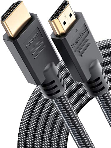PowerBear 4K HDMI Cable 25 ft | High Speed, Braided Nylon & Gold Connectors, 4K @ 60Hz, Ultra HD, 2K, 1080P & ARC Compatible | for Laptop, Monitor, PS5, PS4, Xbox One, Fire TV, Apple TV & More